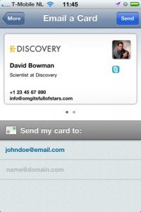 iPhone Business Card Apps