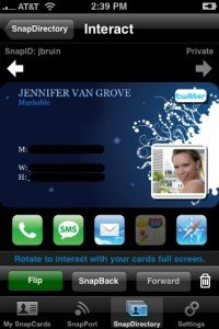 Business Card iphone Apps