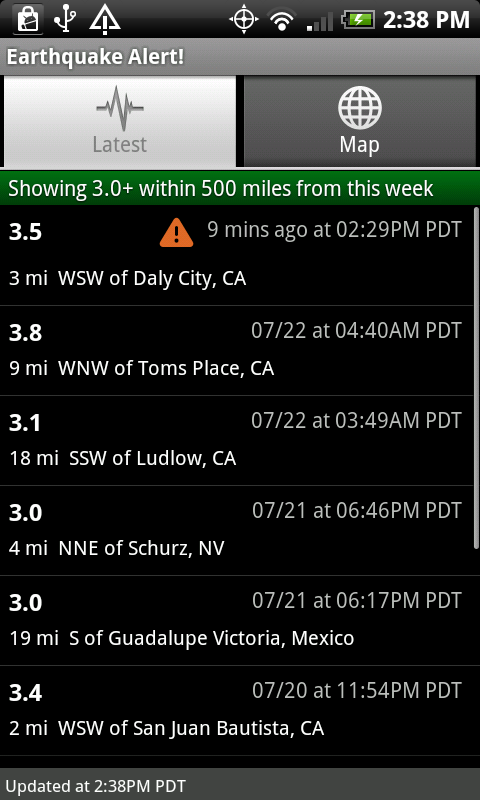 Earthquake Alert App