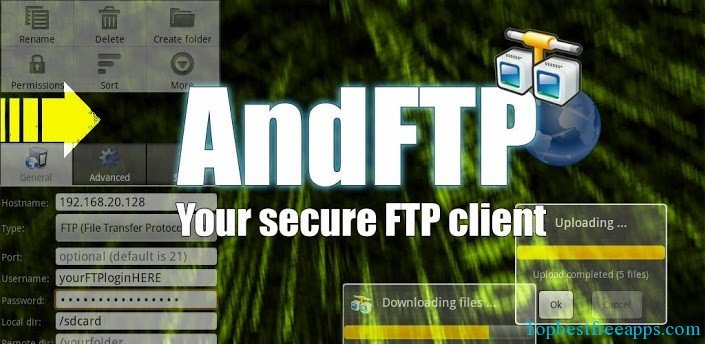 AndFTP andorid ftp app