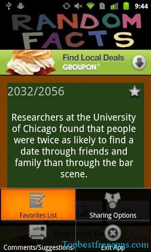 Random Facts andorid app