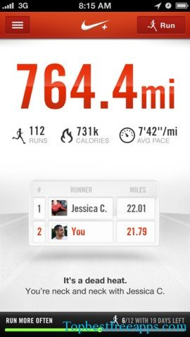nike running fitness iphone app