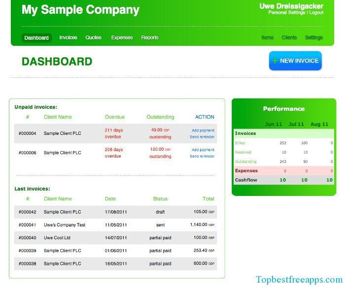 Create Online Invoice And Track Expense With Invoiceberry App For Free - Online invoice tracking