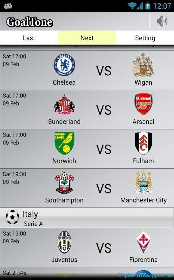 Live Soccer Scores app