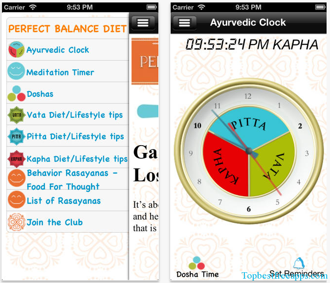 balance diet iphone app
